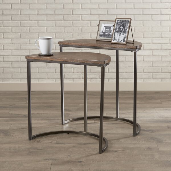 Review Shuman Sled 2 Piece Nesting Tables (Set Of 2)