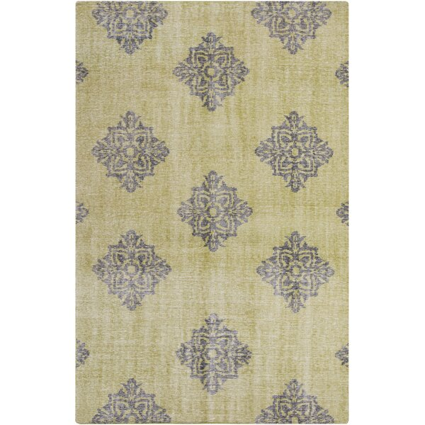 Ritesh Damask Lime Area Rug by Bungalow Rose