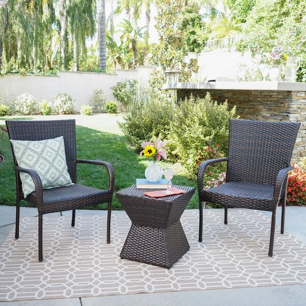 Greggory 3 Piece Rattan Seating Group by Winston Porter