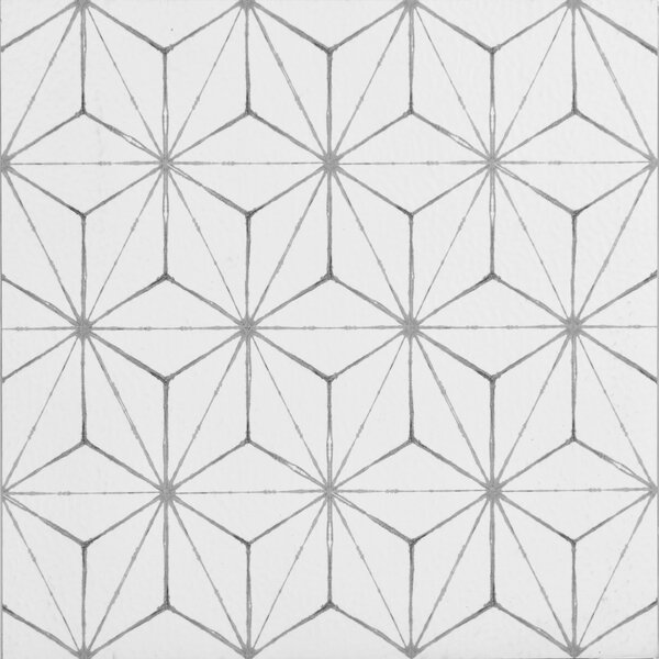 Kikko 12 x 12 Vinyl Tile in White by WallPops!