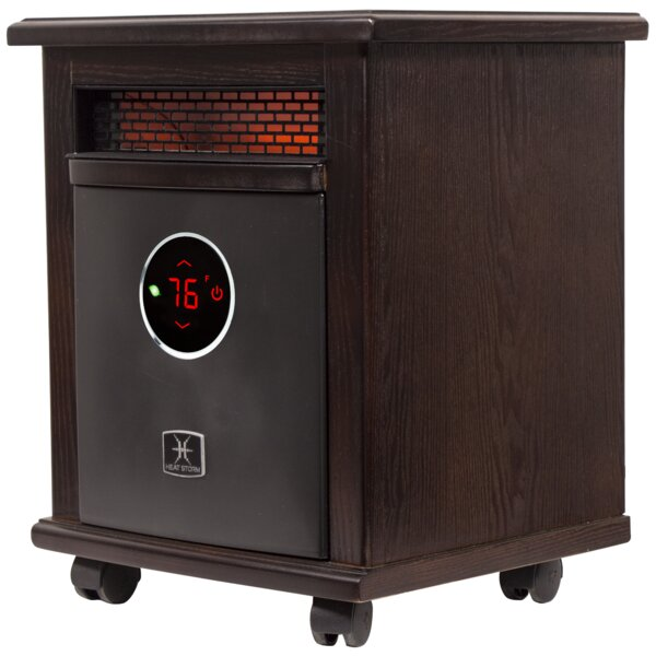 Logan Deluxe Portable 1,500 Watt Electric Infrared Cabinet Heater By Heat Storm