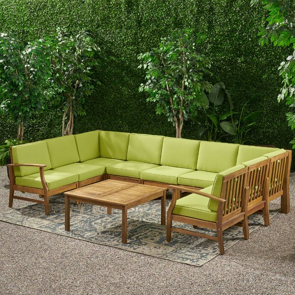 Antonia 10 Piece Sectional Seating Group with Cushions by Mistana