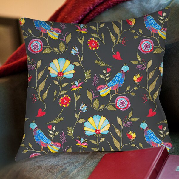 Early Bird Printed Throw Pillow by Manual Woodworkers & Weavers