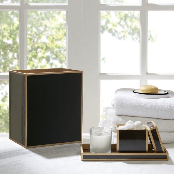 Tourmaline Black Lacquer 3-Piece Bathroom Accessory Set by Mercer41