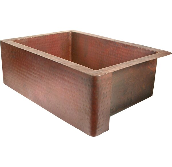Copper 36 L x 22 W Single Bowl Farmhouse Kitchen Sink by D'Vontz