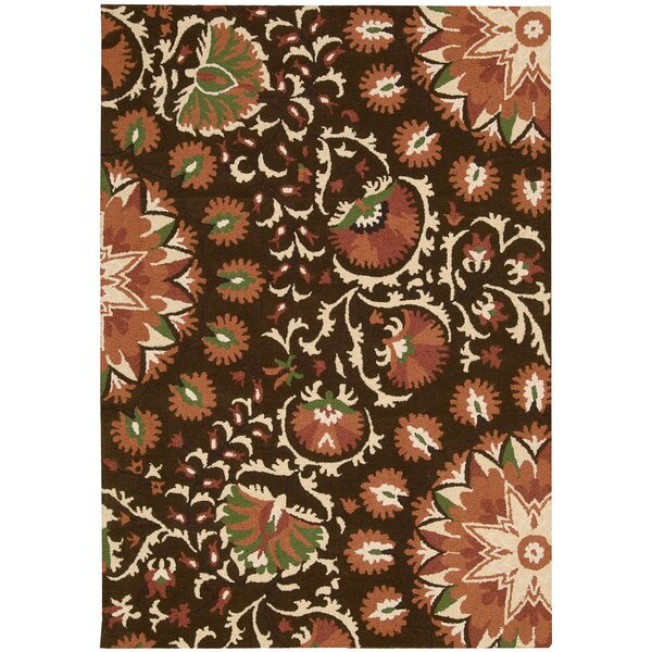Aberdeenshire Hand-Tufted Brown Area Rug by Charlton Home