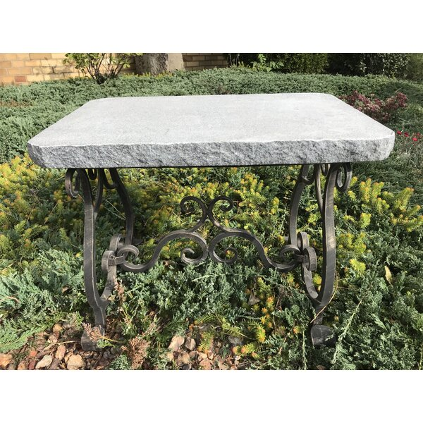 Laurent Granite Melody Garden Stool by Fleur De Lis Living