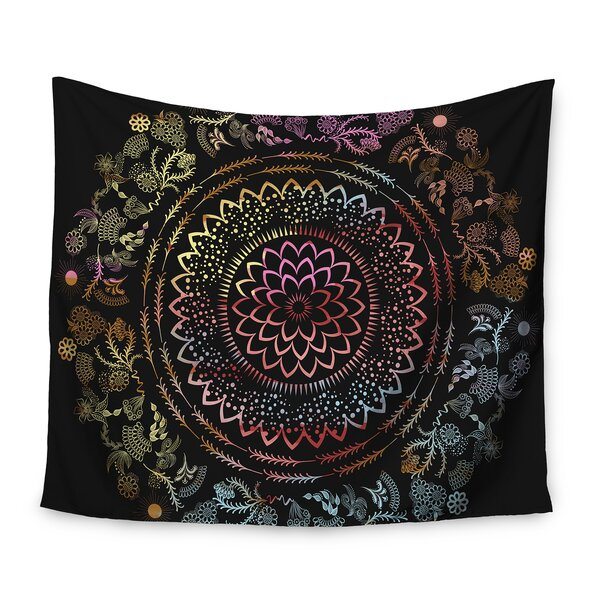 Famenxt Botanical Folk Vibes Mandala Tapestry and Wall Hanging by East Urban Home