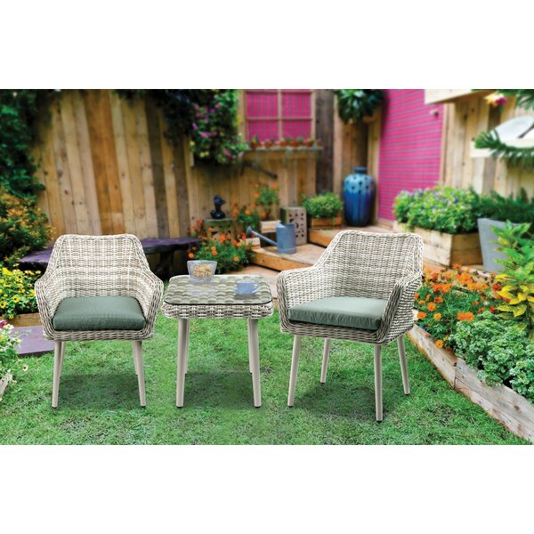 Randle 3 Piece Bistro Set with Cushions