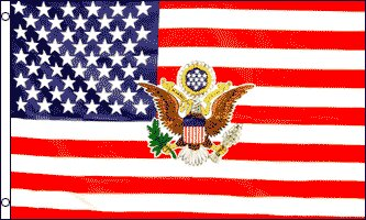 USA with President Logo Traditional Flag by Flags Importer