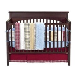Marnell Stripes And Plaids 4 Piece Crib Bedding Set