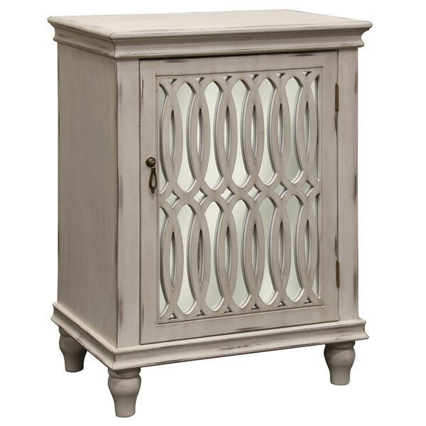 Montero Mirrored Front 1 Door Accent Cabinet by House of Hampton