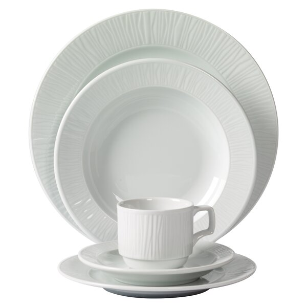 Emotion Embossed Porcelain 20 Piece Dinnerware Set, Service for 4 by Mitterteich