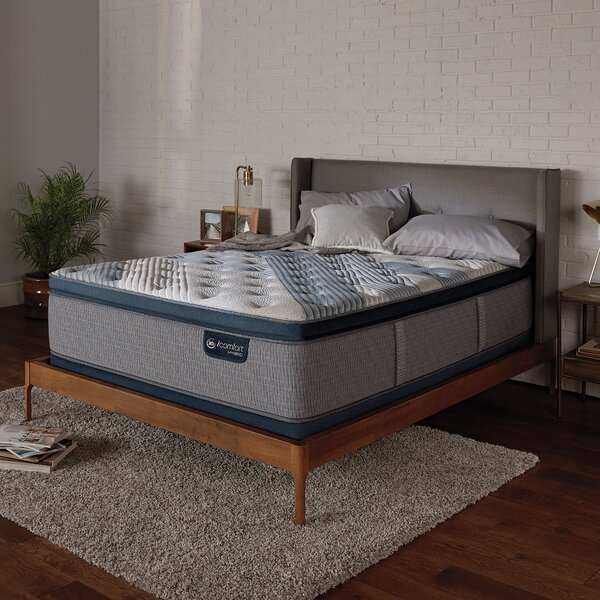 iComfort 1000 14 Medium Pillow Top Hybrid Mattress and Box Spring by Serta