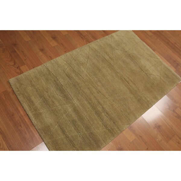 One-of-a-Kind Sokolowski Hand-Knotted Wool Brown Area Rug by Bay Isle Home