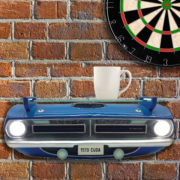 Condit Chrysler 1970 Plymouth Barracuda Cuda Front End Wall Shelf by Zoomie Kids