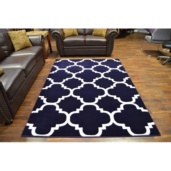Mccampbell Navy Area Rug by Ivy Bronx