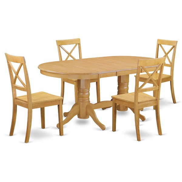Rockdale 5 Piece Solid Wood Dining Set by Darby Home Co Darby Home Co