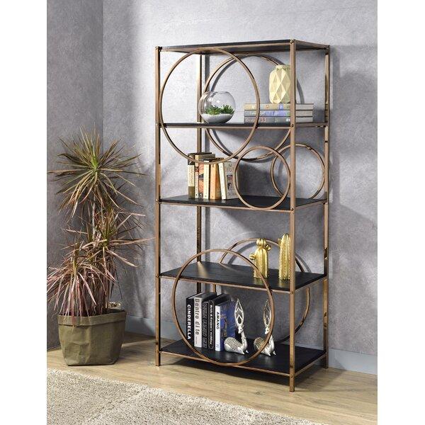Piqua Geometric Bookcase By Everly Quinn