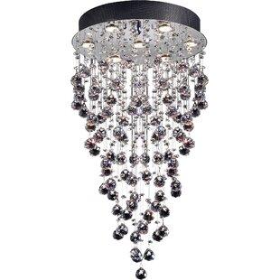 Modern contemporary glass bubble chandelier allmodern rayna 7 light crystal chandelier aloadofball Images