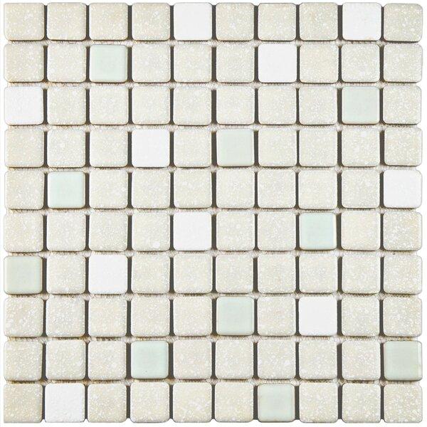 Minerva 1.1 x 1.1 Porcelain Mosaic Tile in Pistachio by EliteTile
