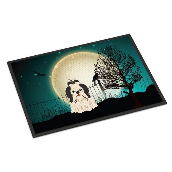 Halloween Scary Shih Tzu Doormat by Caroline's Treasures