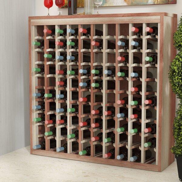Karnes Redwood Deluxe 100 Bottle Floor Wine Rack by Red Barrel Studio
