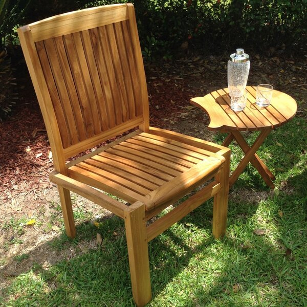 Greg Stacking Teak Patio Dining Chair By Bay Isle Home