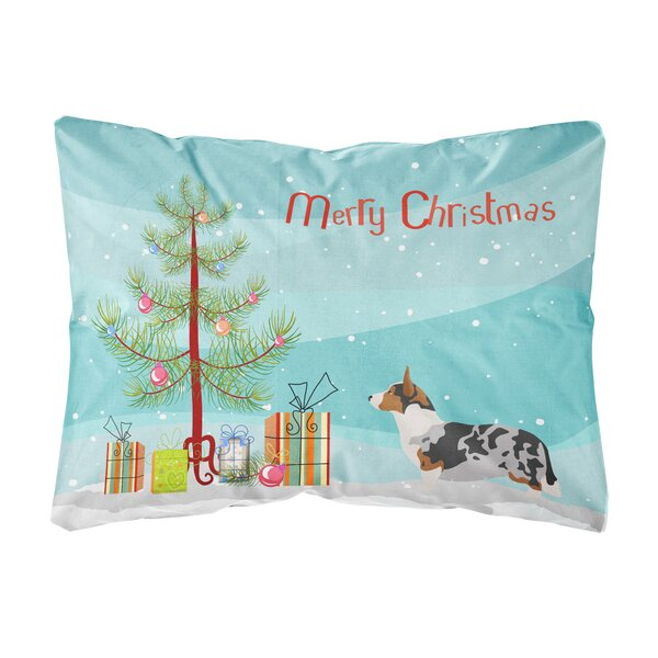Genoa Welsh Corgi Cardigan Christmas Indoor/Outdoor Throw Pillow by The Holiday Aisle