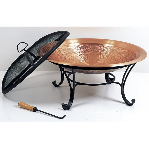Copper Cast Iron Wood Burning Fire Pit by Pomegranate Solutions, LLC