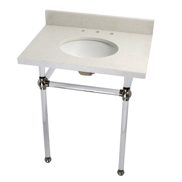 Templeton Ceramic 30 Console Bathroom Sink with Overflow by Kingston Brass