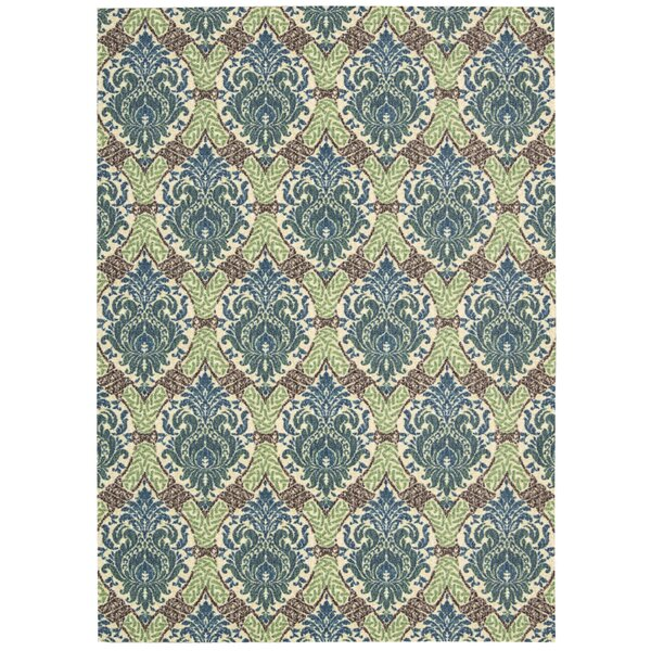 Treasures Dress Up Damask Blue Jay Area Rug by Waverly