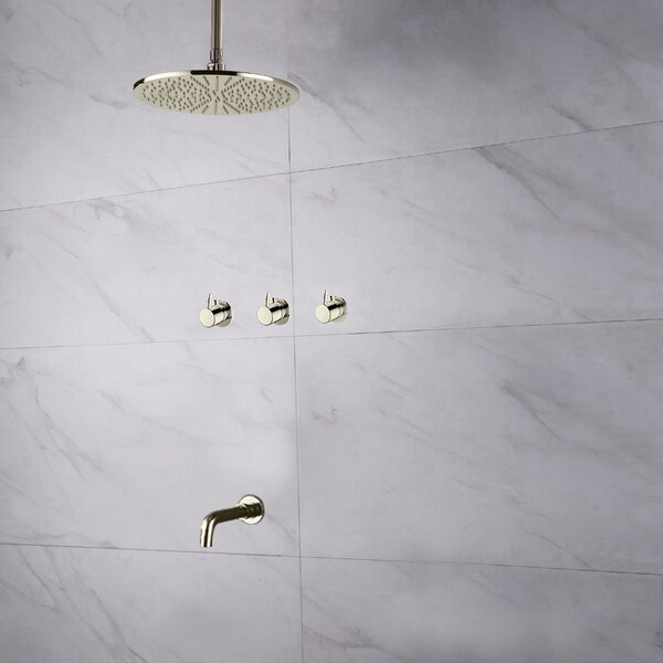 Oceana Thermostatic Complete Shower System with Rough-in Valve by FontanaShowers FontanaShowers