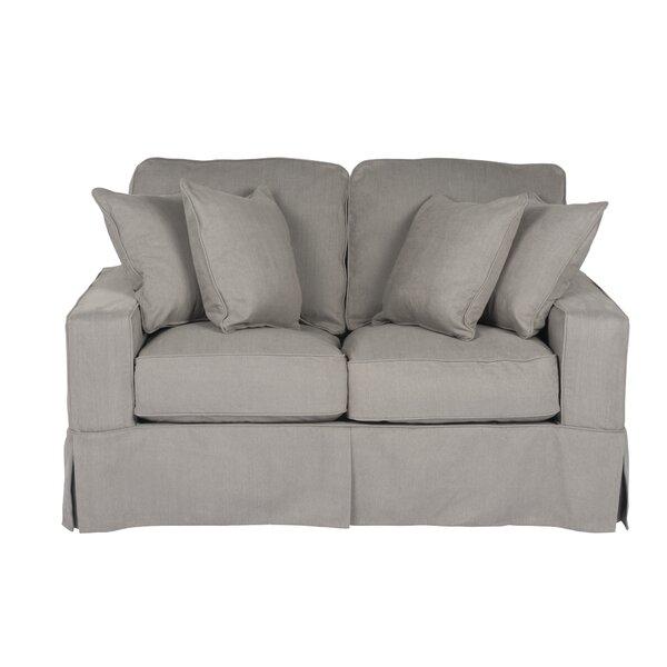Elsberry Box Cushion Loveseat Slipcover
