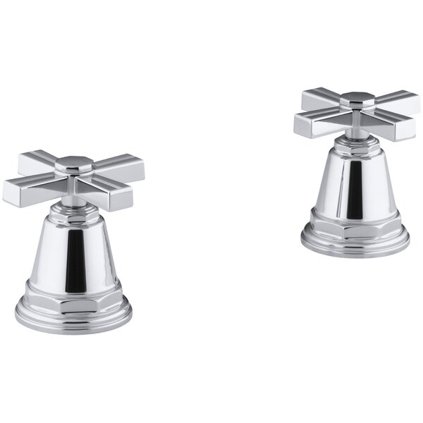 Pinstripe Deck-Mount High-Flow Bath Valve Trim with Cross Handles, Handles Only, Valve Not Included by Kohler