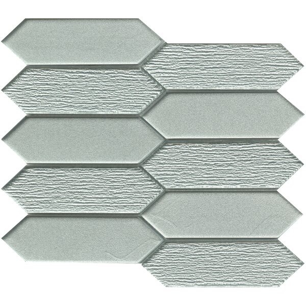 Picket 2 x 4 Glass Mosaic Tile in Silver by Emser Tile
