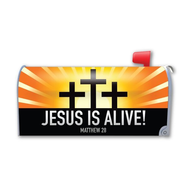 Jesus is Alive! Magnetic Mailbox Cover by Magnet America