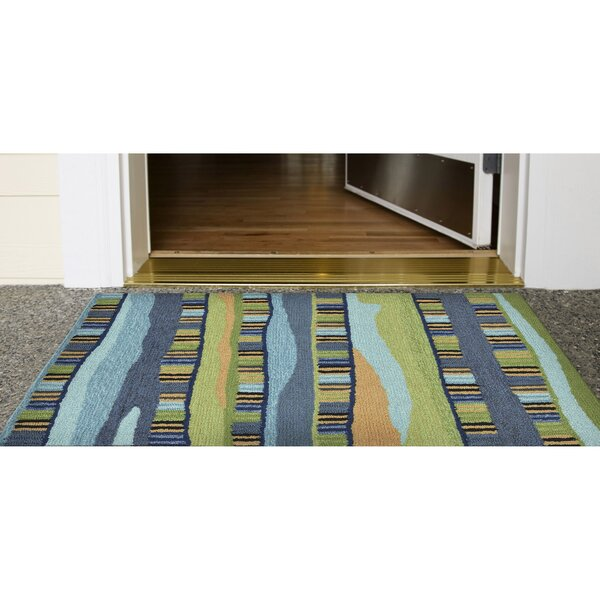 Derby Blue Indoor/Outdoor Area Rug by Ebern Designs