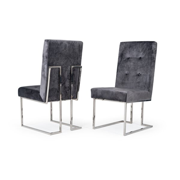 Frisina Modern Upholstered Dining Chair (Set Of 2) By Everly Quinn