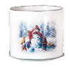 Snow Days Design Painted Dolomite Pot Planter by The Holiday Aisle