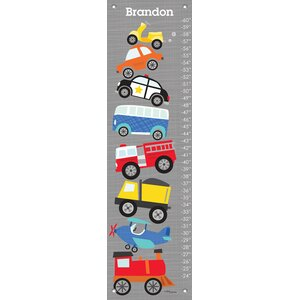 Ways to Wheel Personalized Canvas Growth Chart by Oopsy Daisy