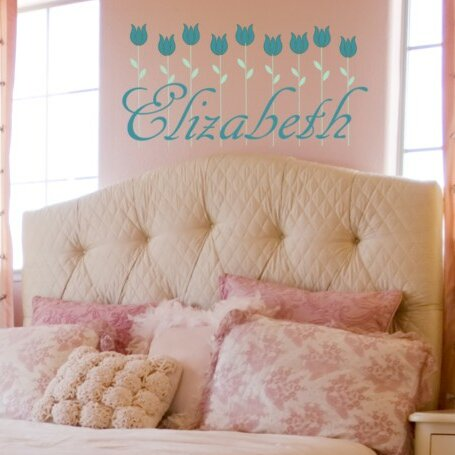 Personalized Tulip Row Wall Decal by Alphabet Garden Designs