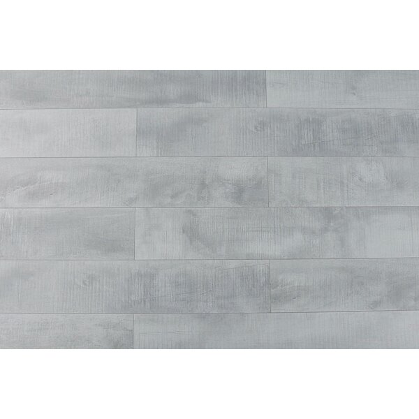 Summa 6.5 x 48 x 12mm Oak Laminate Flooring in Pristine White by Montserrat