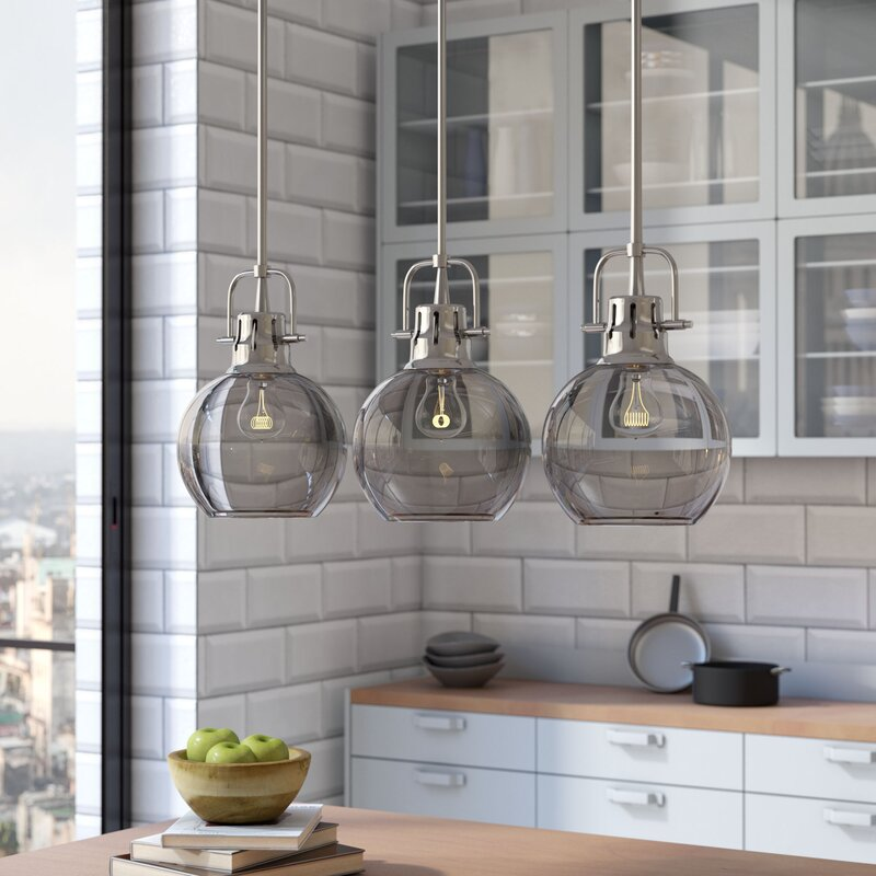 Brayden Studio Burner 3-Light Kitchen Island Pendant & Reviews ...