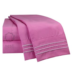 Read Reviews Rosy Finch Microfiber Sheet Set By Nestl Bedding