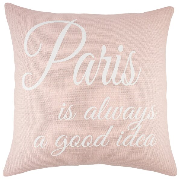 Paris Burlap Throw Pillow by TheWatsonShop