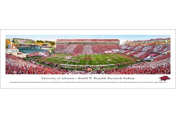 NCAA Arkansas Razorback Football Stripe Photographic Print by Blakeway Worldwide Panoramas, Inc