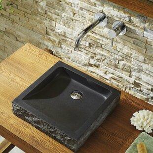 Neril Stone Square Vessel Bathroom Sink ByVirtu USA