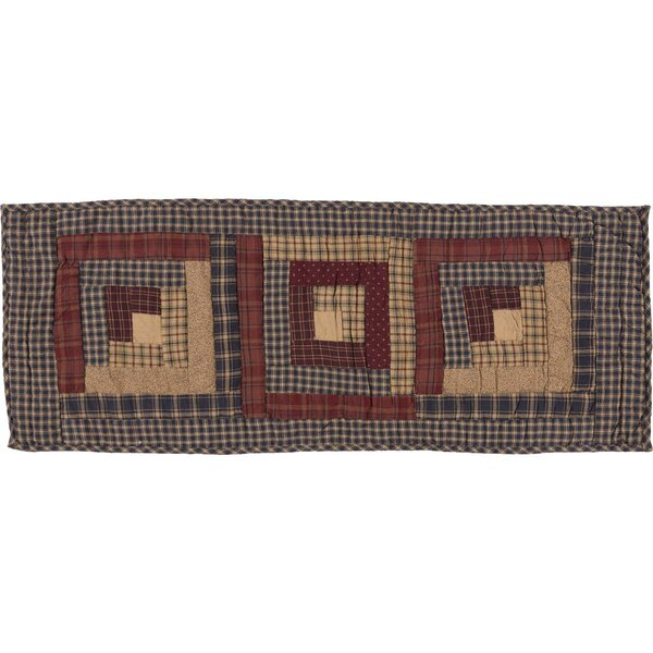 Lorena Log Cabin Block Quilted Runner by August Grove