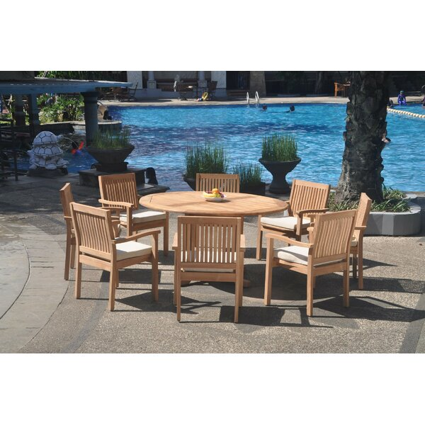 Pemberton 9 Piece Teak Dining Set by Rosecliff Heights Rosecliff Heights